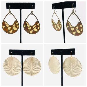Jewelry - 2 pair stylish fashion earrings